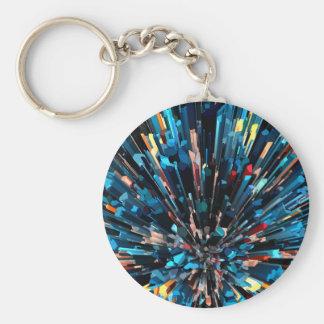 Porte-clés Piles tridimensionnelles de couleur