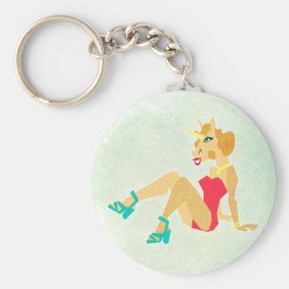 Porte-clés Pin vers le haut de licorne