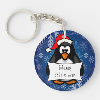 Porte-clés Pingouin de Noël