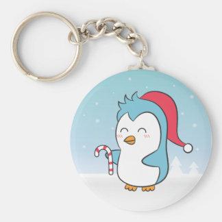 Porte-clés Pingouin mignon de Noël avec le porte - clé de