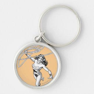 Porte-clés Pirouette noire et blanche de femme de merveille