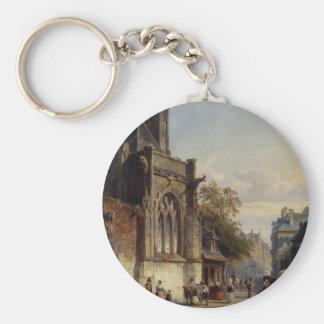 Porte-clés Place avant une église Capriccio par Corneli