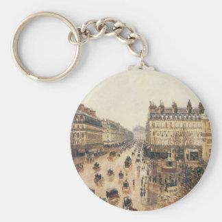 Porte-clés Place du Theatre Francais, pluie de Paris par