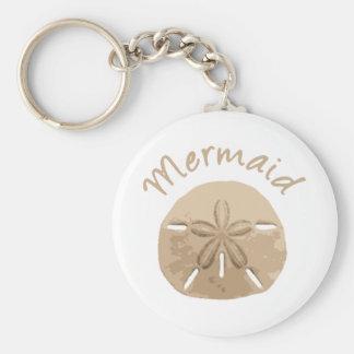 Porte-clés Plage d'art du dollar de sable de sirène de