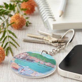 Porte-clés Plage de Cefalu, porte - clé