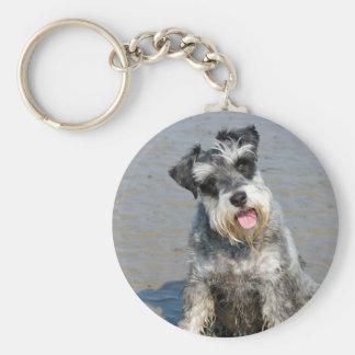 Porte-clés Plage mignonne de photo de chien miniature de
