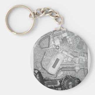 Porte-clés Plan des usines existantes dans la villa Adrian
