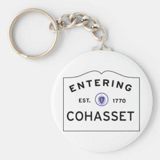 Porte-clés Plaque de rue entrante de COHASSET le