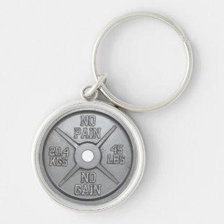 Porte-clés Plat d'haltère - aucune douleur aucun gain
