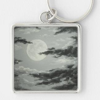 Porte-clés Pleine lune et porte - clé nuageux de ciel