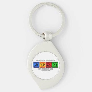 Porte-clés Plongée à l'air fraîche c'est un mode de vie