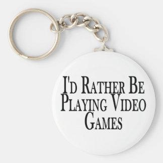 Porte-clés Plutôt jeux vidéo de jeu