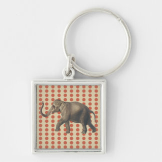 Porte-clés Points de corail de modes d'épice avec l'éléphant