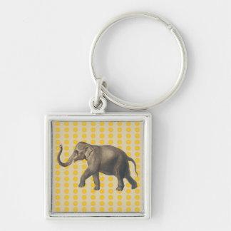 Porte-clés Points de modes d'épice de Safron avec l'éléphant