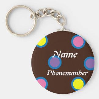 Porte-clés Pois multicolore personnalisable