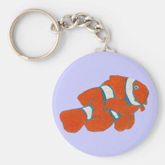 Porte-clés poissons tropicaux de clown d'eau de mer