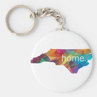 Porte-clés Poly À LA MAISON de la Caroline du Nord bas
