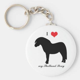 Porte-clés Poney de Shetland, j'aime le coeur, porte - clé,
