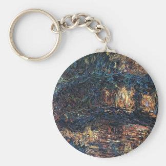 Porte-clés Pont japonais par Claude Monet, beaux-arts