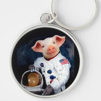 Porte-clés Porc d'astronaute - astronaute de l'espace