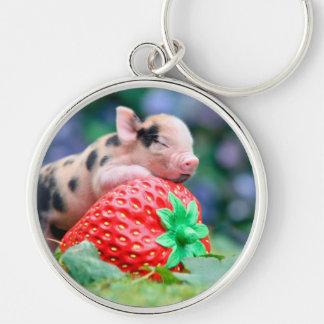 Porte-clés porc de fraise