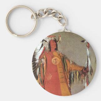 Porte-clés Portait de chef indien Mato-Tope par George Catlin