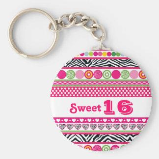 Porte-clés Porte - clé abstrait coloré du bonbon 16 à coeurs