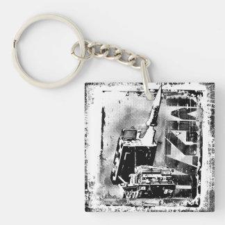 Porte-clés Porte - clé acrylique (double face) de carré du