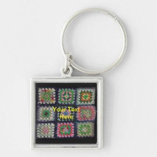 Porte-clés Porte - clé - Afghane carrée de mamie
