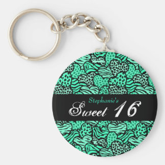 Porte-clés Porte - clé animal du bonbon 16 à coeurs de motif