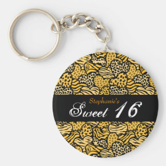 Porte-clés Porte - clé animal jaune du bonbon 16 à coeurs de