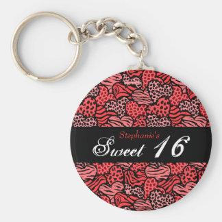 Porte-clés Porte - clé animal rouge du bonbon 16 à coeurs de