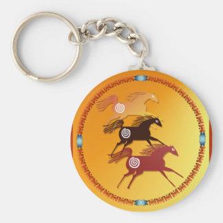 Porte-clés Porte - clé antique de trois chevaux