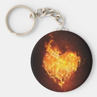 Porte-clés porte - clé ardent de bouton d'amour