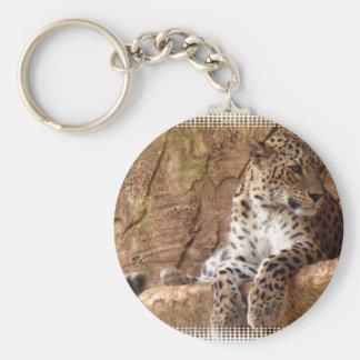 Porte-clés Porte - clé attentif de léopard