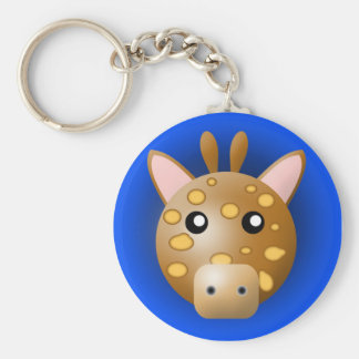 Porte-clés porte - clé avec l'animal : girafe