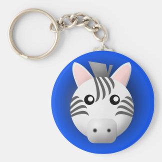 Porte-clés porte - clé avec l'animal : zèbre
