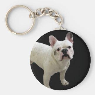 Porte-clés Porte - clé blanc de bouledogue français