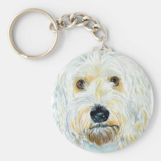 Porte-clés Porte - clé blanc de Labradoodle Maggie