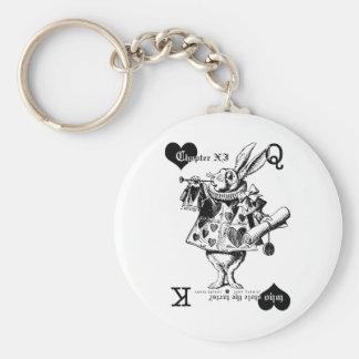 Porte-clés Porte - clé blanc de lapin