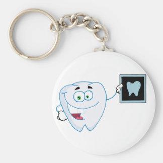 Porte-clés Porte - clé blanc heureux de dent
