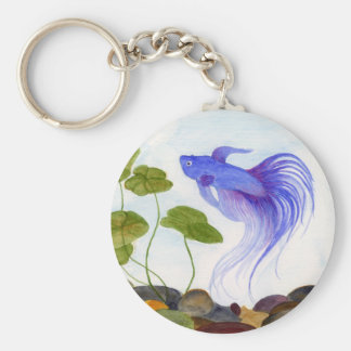 Porte-clés Porte - clé bleu de poissons de Betta