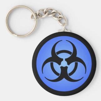 Porte-clés Porte - clé bleu de symbole de Biohazard