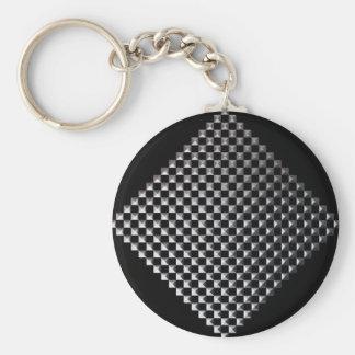 Porte-clés Porte - clé carré argenté