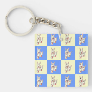 Porte-clés Porte - clé Checkered de bull-terrier