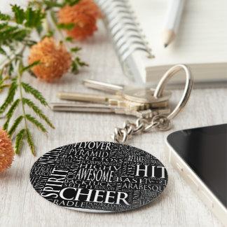 Porte-clés Porte - clé Cheerleading de nuage de mot