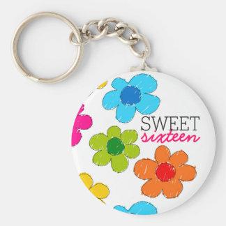 Porte-clés Porte - clé coloré mignon de sweet sixteen de