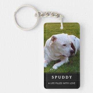 Porte-clés Porte - clé commémoratif d'animal familier - poème