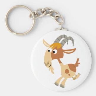 Porte-clés Porte - clé courant de chèvre de bande dessinée