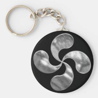 Porte-clés Porte - clé croisé Basque argenté